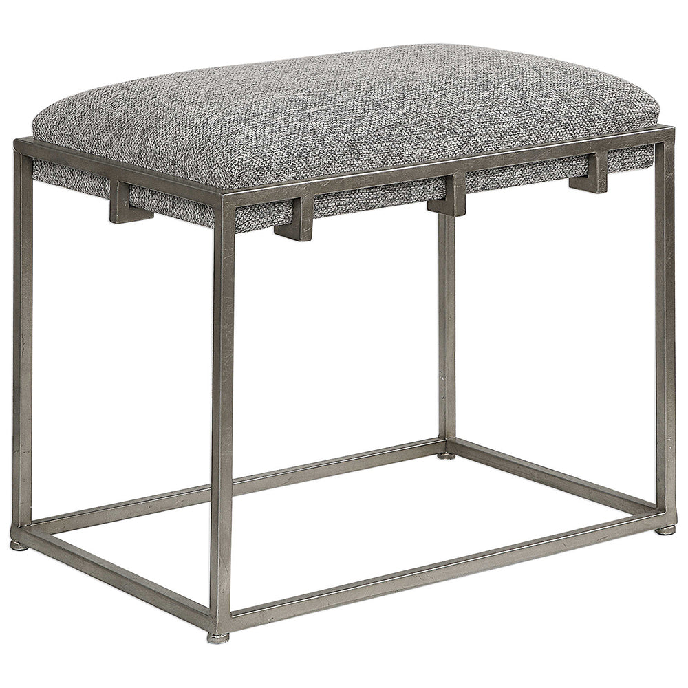 Excellent Small Modern Iron Frame Bench With Plush Seat Inzonedesignstudio Interior Chair Design Inzonedesignstudiocom