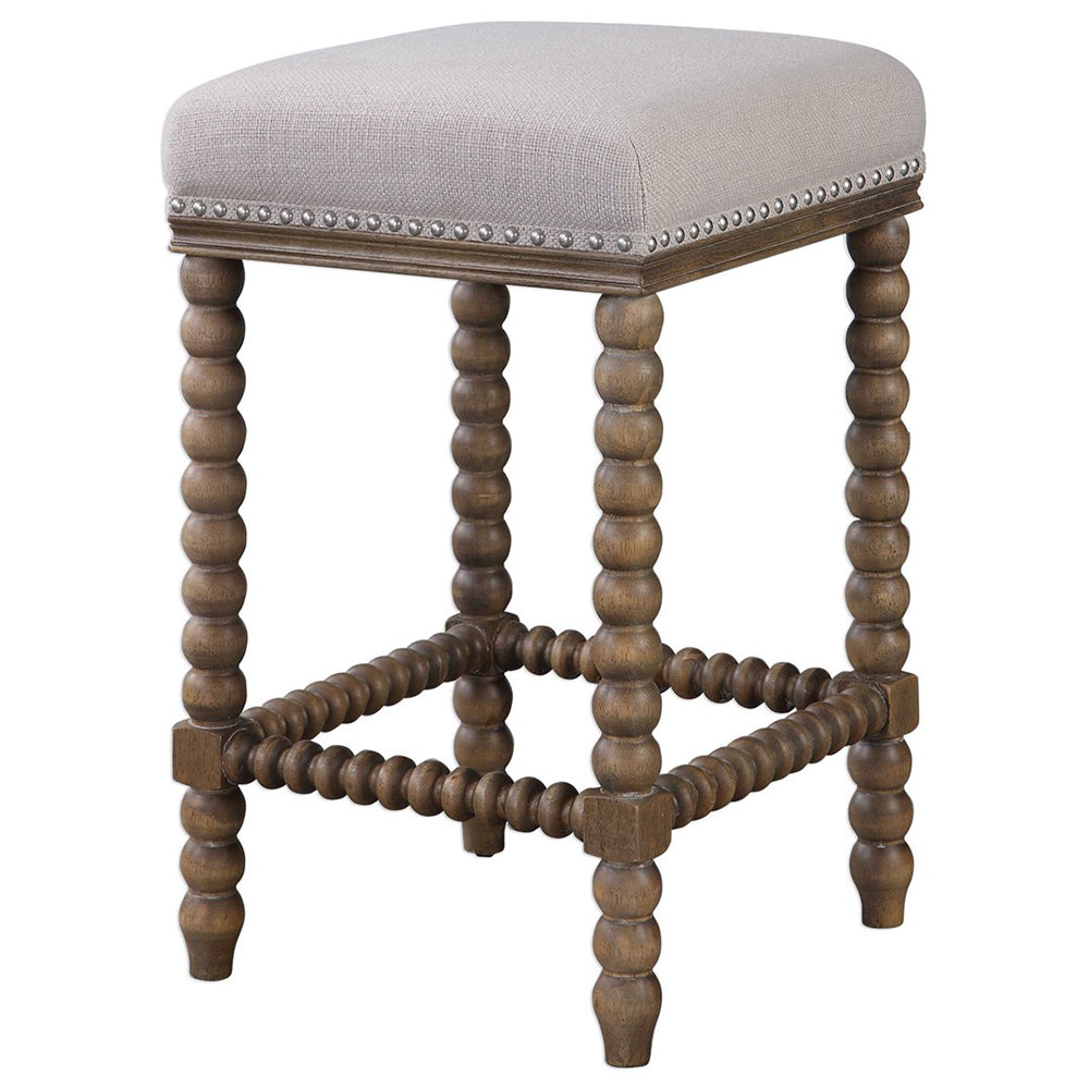 Groovy Backless Counter Stool With Spindle Turned Legs Nailhead Trim Cjindustries Chair Design For Home Cjindustriesco