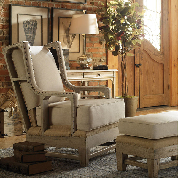 Schafer Linen & Burlap Arm Chair