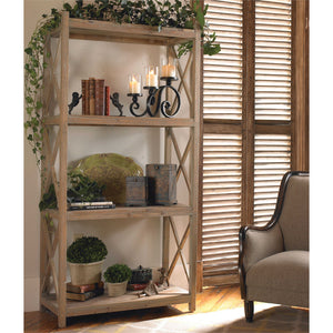 Stratford Reclaimed Wood Etagere Shelf