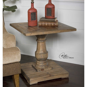 Stratford Reclaimed Wood Side Table