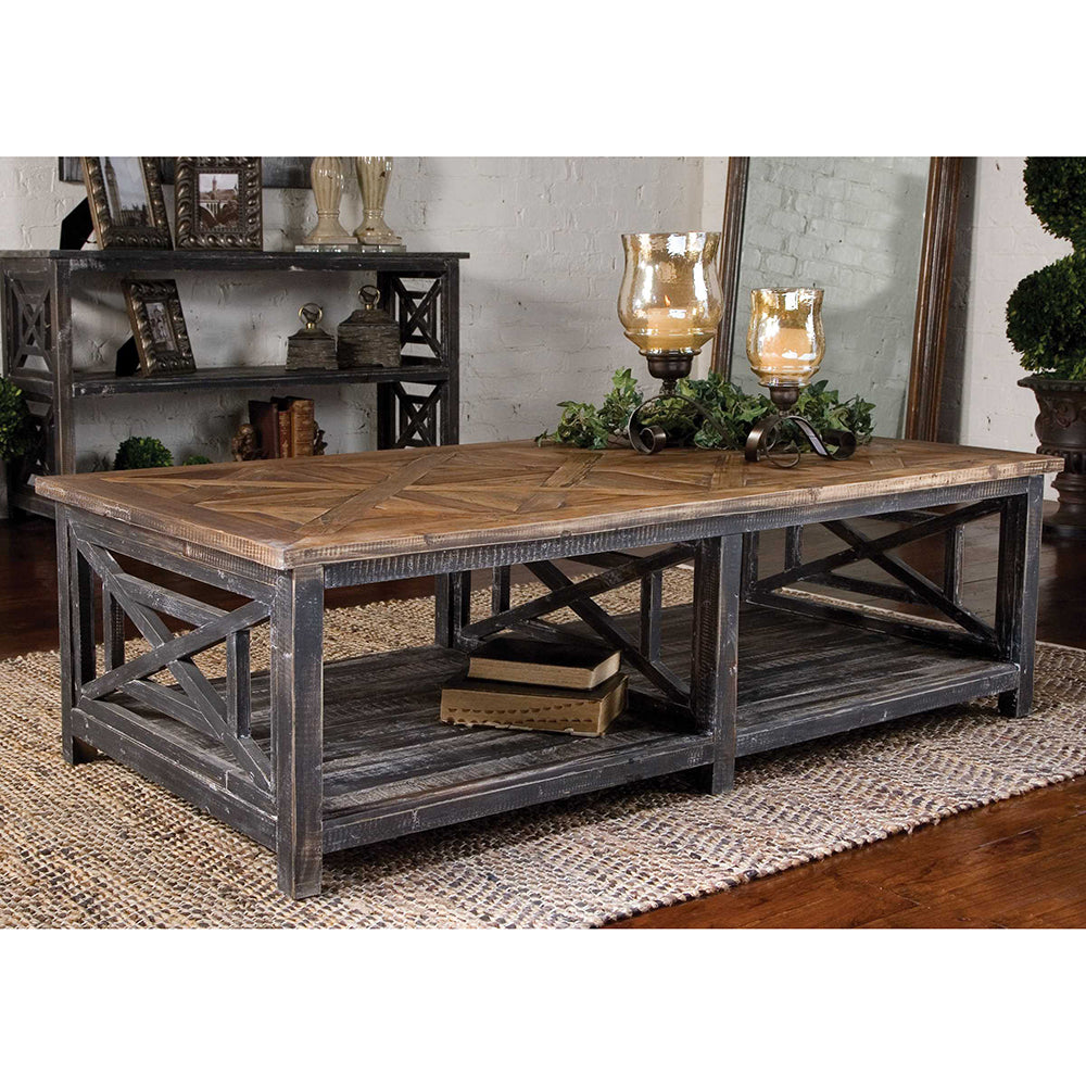 Reclaimed Wood Open Frame Coffee Table - Scenario Home