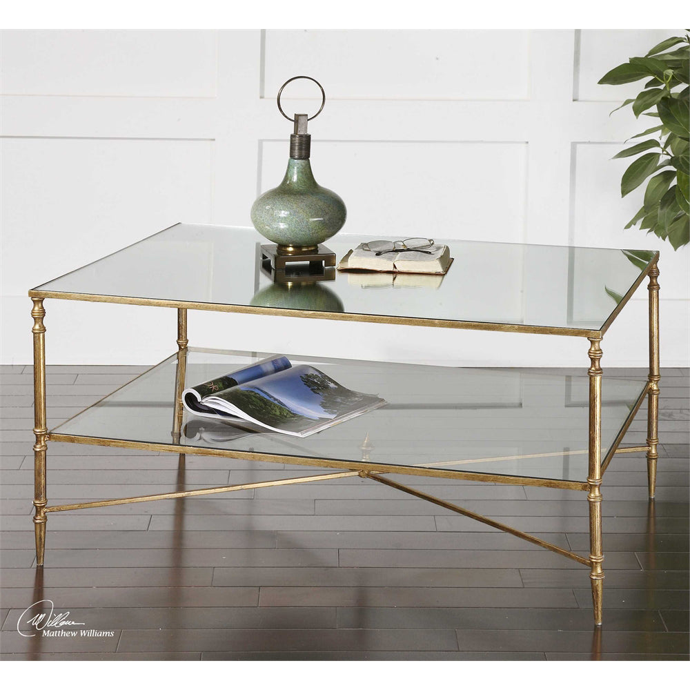 Henzler Gold Leaf & Mirror Coffee Table