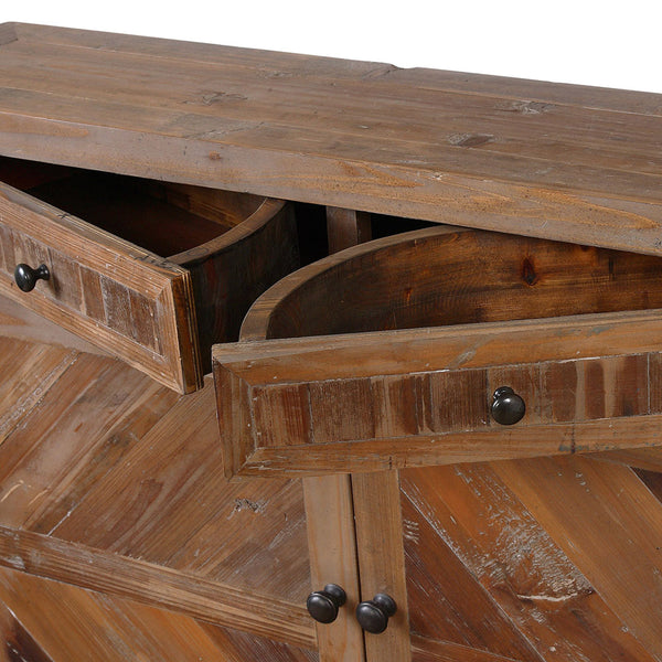 Rustic Reclaimed Wood Console Cabinet