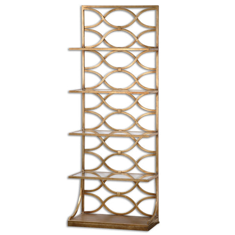 Gold Glam Etagere Shelf
