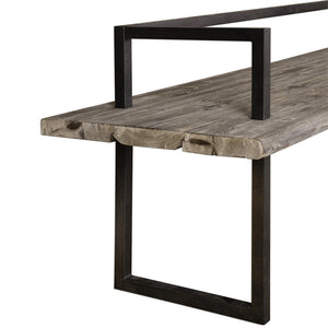 Long Industrial Entry Bench – Antique Finish