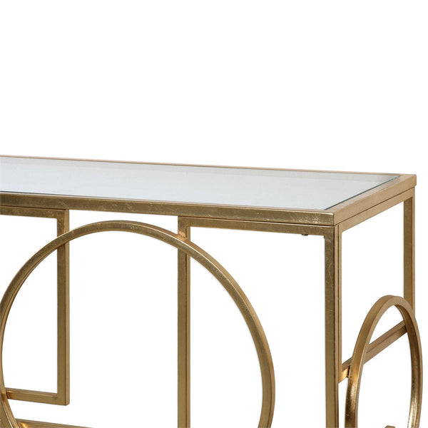 Glam Geometric Console Table