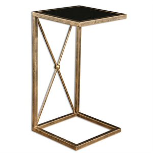 Black Mirrored Side Table