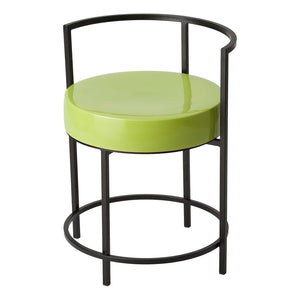 Metal-Frame Chair with Ceramic Seat – Black / Apple Green