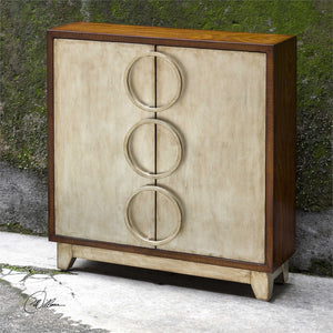 Two Door Hardwood Cabinet with Ring Pulls