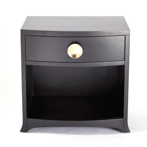 Bow Front 1-Drawer Chest – Ebony
