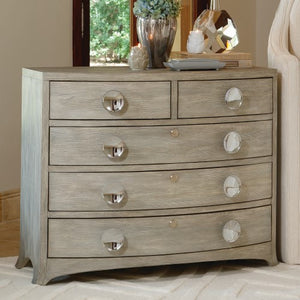 Bow Front 5-Drawer Dresser – Grey
