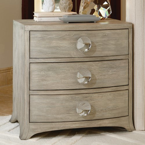 Bow Front 3-Drawer Chest – Grey