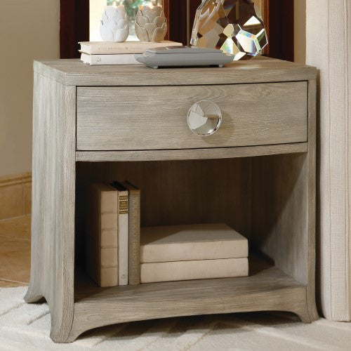 Bow Front 1-Drawer Chest   Grey