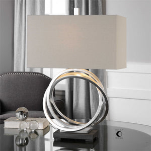 Rings Table Lamp – Silver
