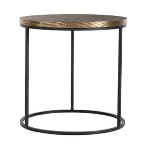 Arteriors Nixon Iron & Wood Side Table