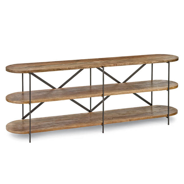 Regina Andrew Rustic Workshop Console Table – Blackened Iron