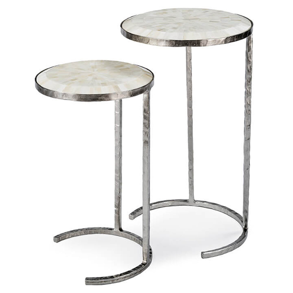 Regina Andrew Bone Veneer Nesting Tables - Set of 2