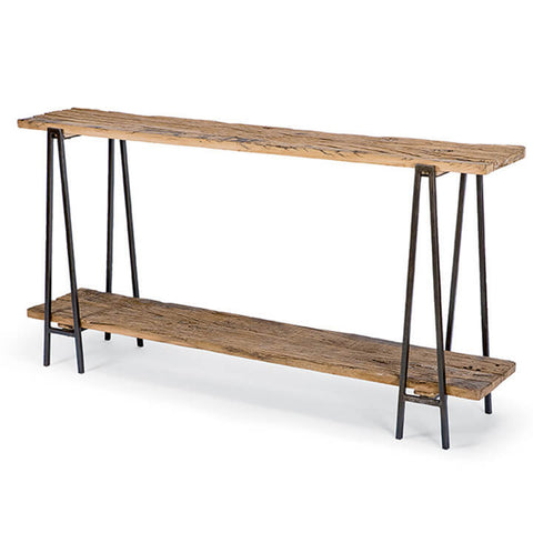 Regina Andrew Reclaimed Wood Console Table – Blackened Iron