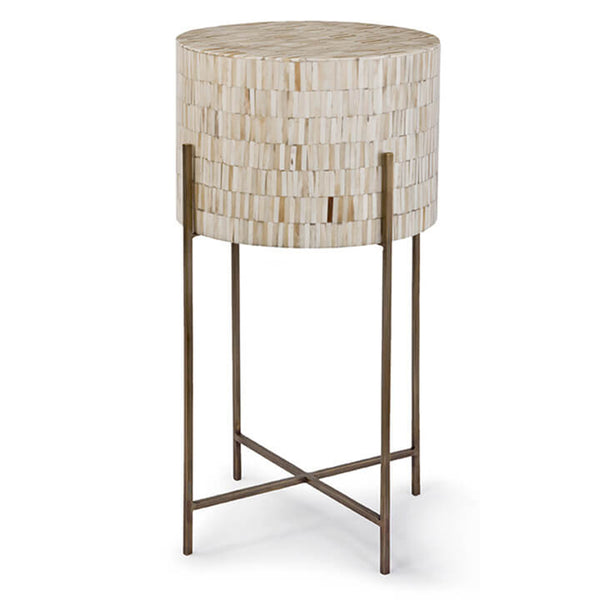 Regina Andrew Bone Drum Side Table – Antique Brass