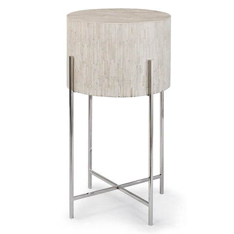 Regina Andrew Bone Drum Side Table – Polished Nickel