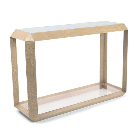 Regina Andrew Resin Weave Console Table – Natural