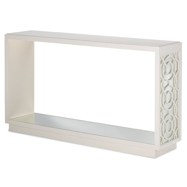 Currey and Company Trellis & Mirror Console Table