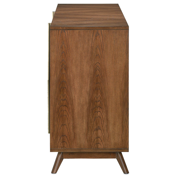 Currey and Company Modern Hardwood 4-Door Credenza