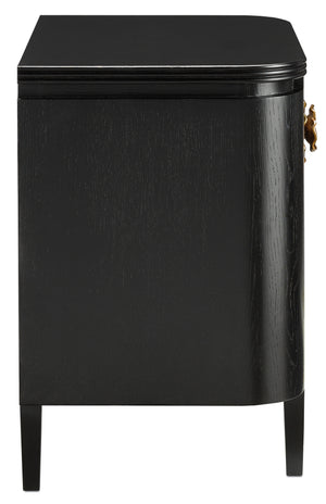 Currey and Company Briallen Black Nightstand