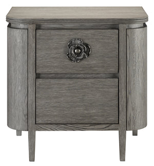 Currey and Company Briallen Gray Nightstand