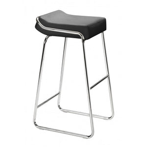 Wedge Barstool Black (Set of 2) - Black