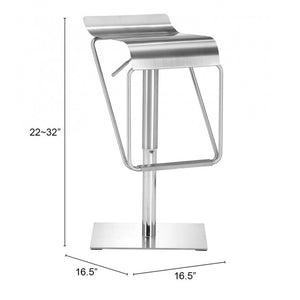 Dazzer Barstool Brushed Stainless Steel - Brushed Stainless Steel