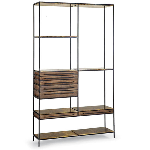 Regina Andrew Tiered Etagere with Brass Drawers