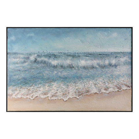 Oversized Hand-Painted Dimensional Seascape Artwork