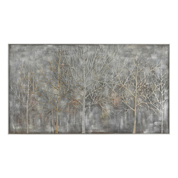 Oversized Hand-Painted Dimensional Artwork – Multi Grey