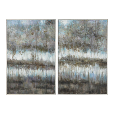Oversized Hand-Painted Abstract Artwork – Set of 2