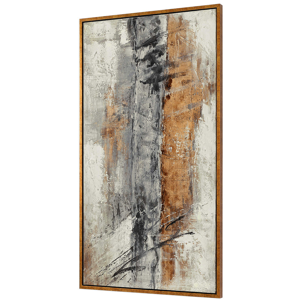 Extra Large Bronze & Gold Abstract Artwork
