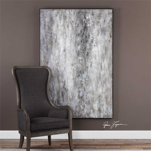 Oversized Abstract Artwork – Grey Tones