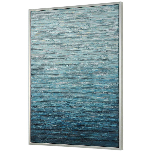 Rectangular Three-Dimensional Abstract Artwork on Canvas