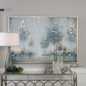 Oversized Winter Forest Artwork