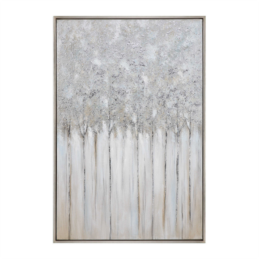 Oversized Abstract Trees Artwork – Multi Grey
