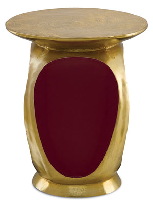 Currey and Company Malmo Gold Accent Table