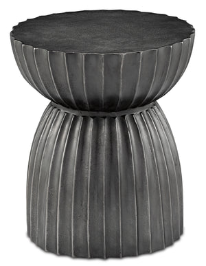 Currey and Company Rasi Graphite Table/Stool