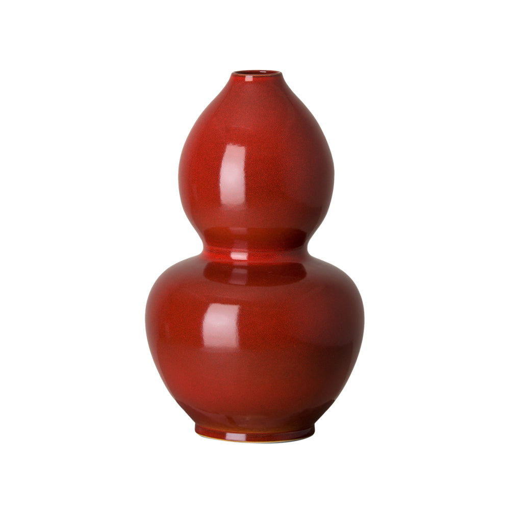 Ceramic Double Gourd Vase – Red Speckle