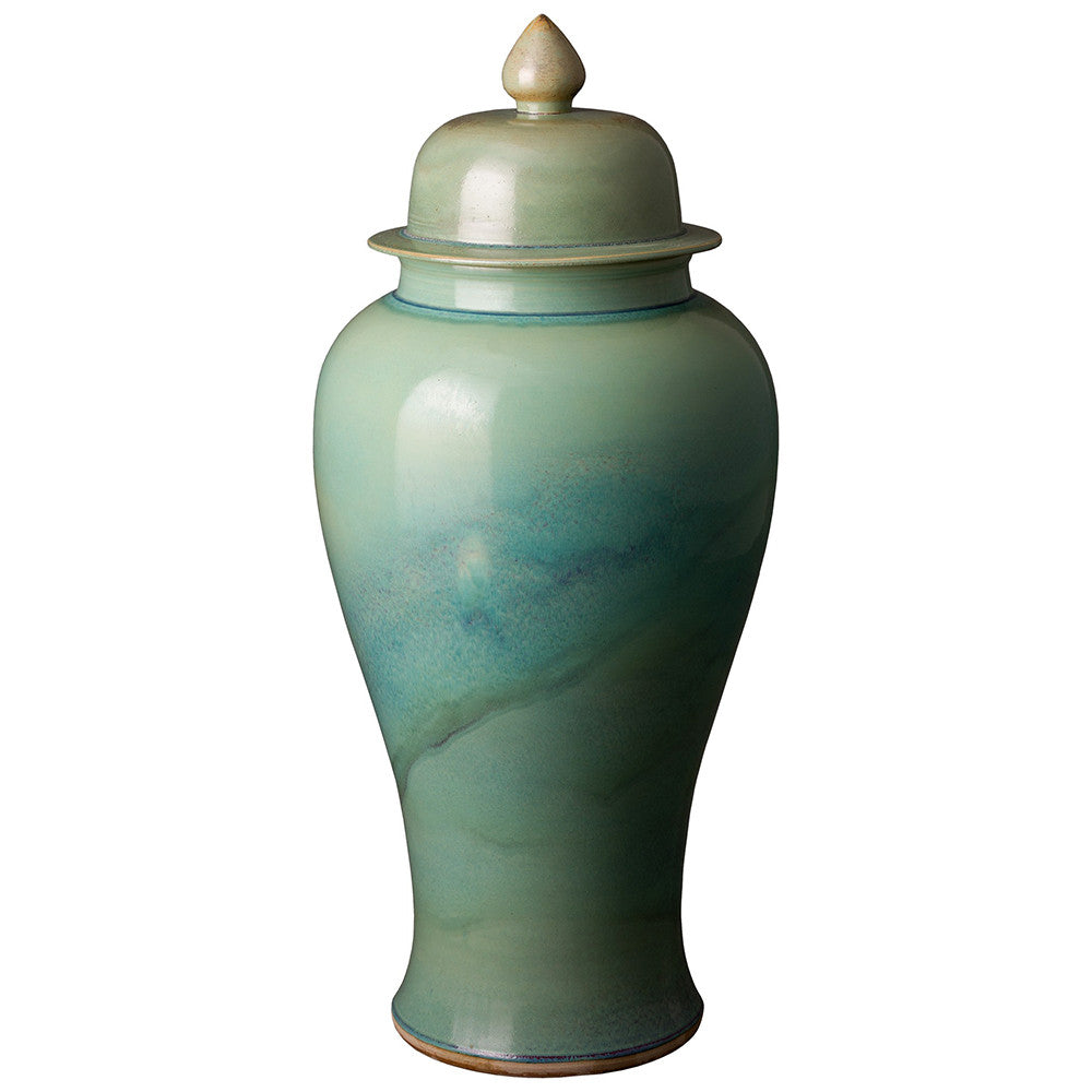 Large Ginger Jar - Jade Ombre