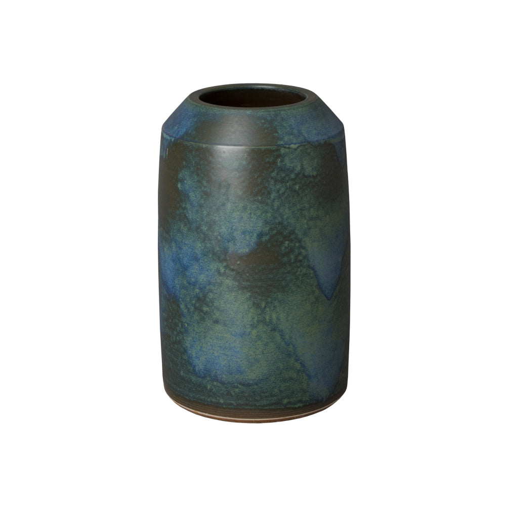 Verdi Blue Ceramic Cylinder Jar – Medium