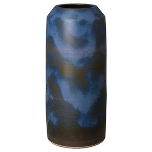 Verdi Blue Ceramic Cylinder Jar – Large