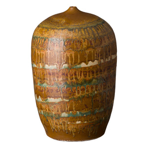Tall Ceramic Cocoon Vase – Nutshell Brown
