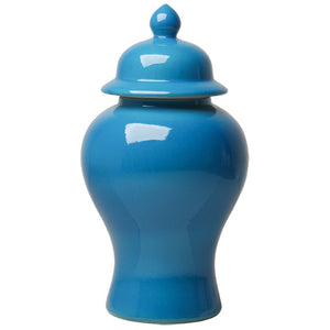 Large Ceramic Temple Jar – French Turquoise