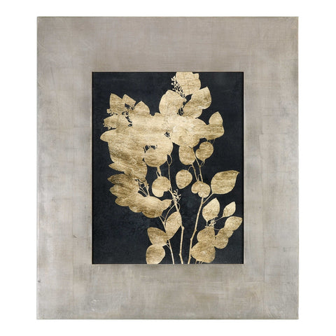 Oversized Gold Foil Floral Artwork